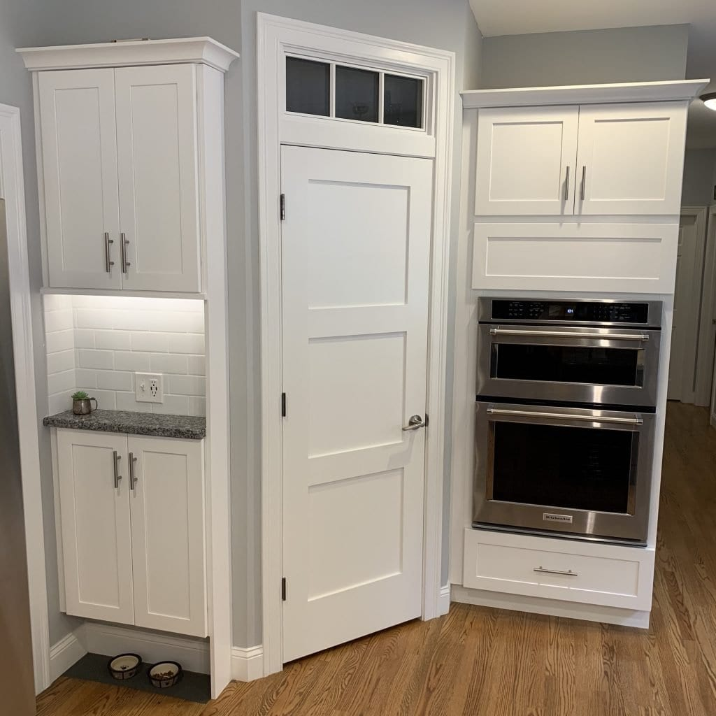 dean cabinetry stock fabuwood framed full overlay galaxy frost command center