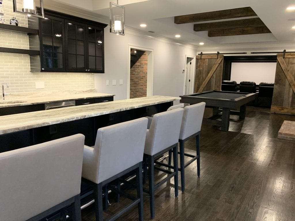 dean cabinetry john dean custom black frameless full overlay kitchen bar