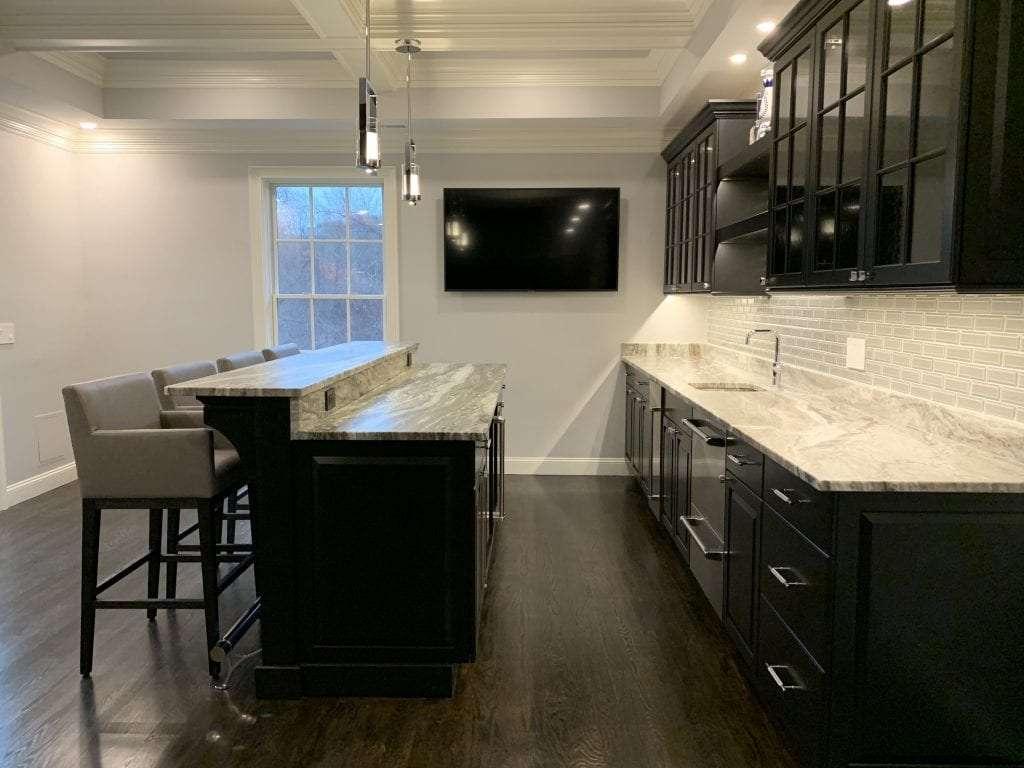 dean cabinetry john dean custom black frameless full overlay kitchen island