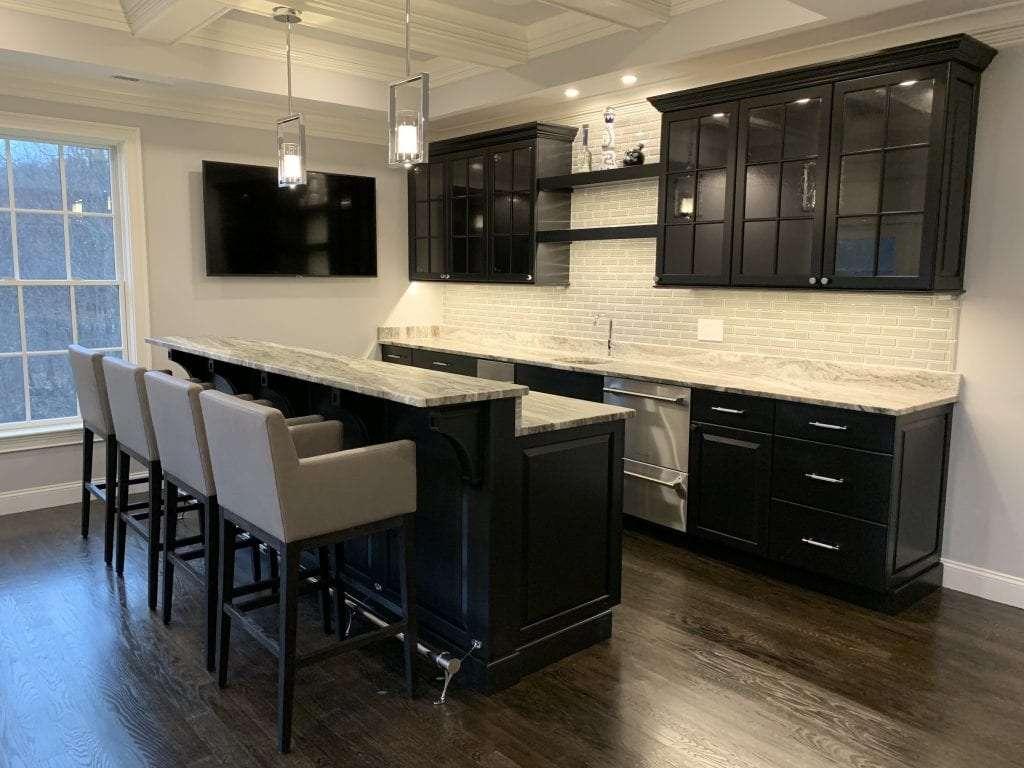 dean cabinetry john dean custom black frameless full overlay kitchen