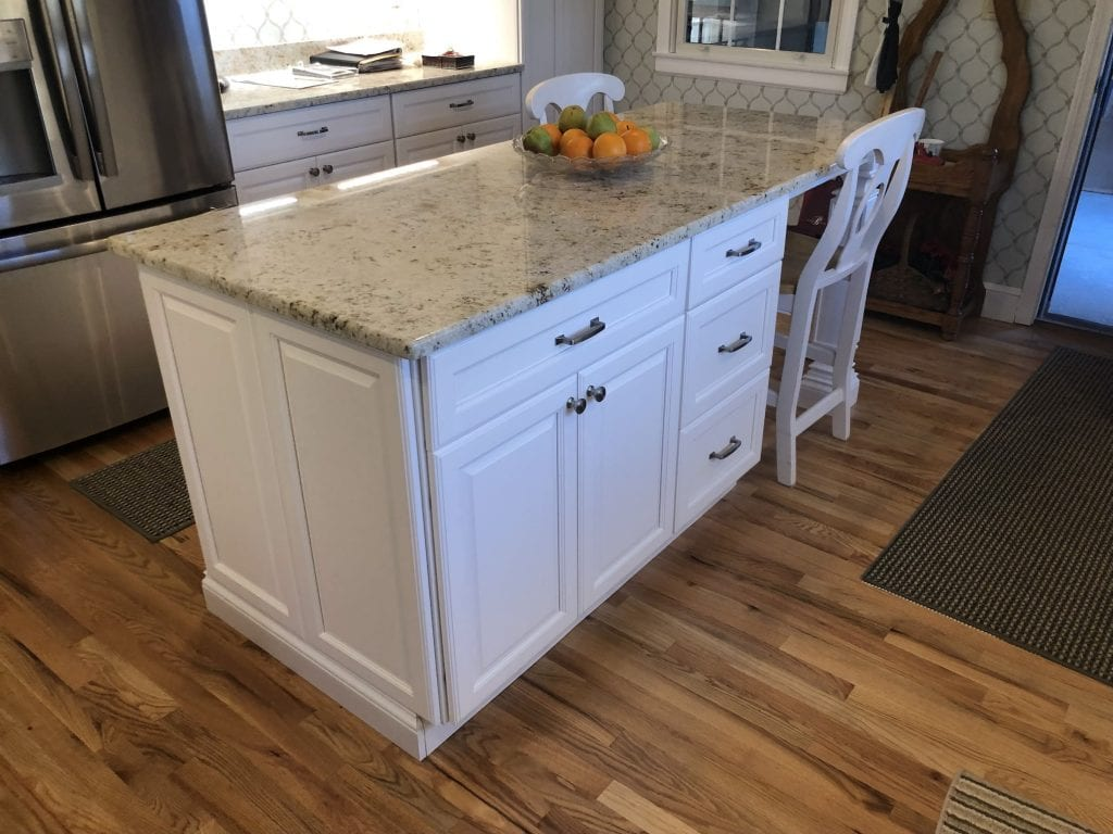 dean cabinetry stock fabuwood hallmark frost framed full overlay island cabinetry