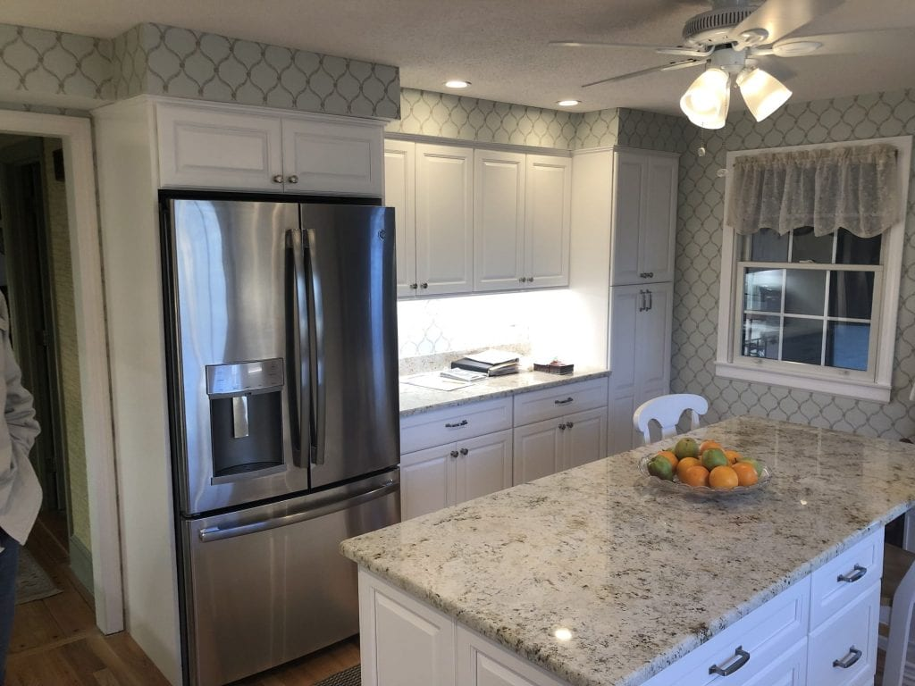 dean cabinetry stock fabuwood hallmark frost framed full overlay kitchen cabinetry