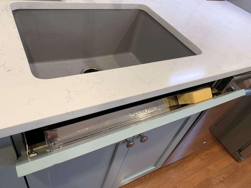 Dean Cabinetry Eudora Semi Custom Haze Full Access Full Overlay Kitchen Rev A Shelf