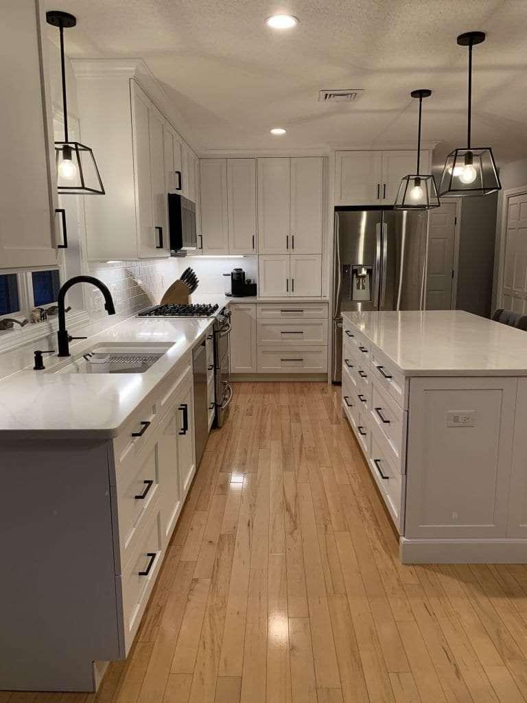 Eudora Semi Custom White Full Access Full Overlay Kitchen 1