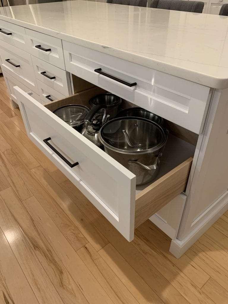Eudora Semi Custom White Full Access Full Overlay Kitchen Drawer