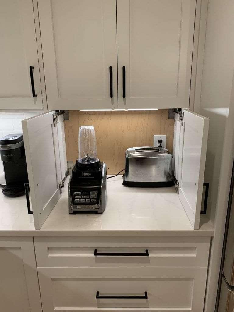Eudora Semi Custom White Full Access Full Overlay Kitchen Fold Away Door