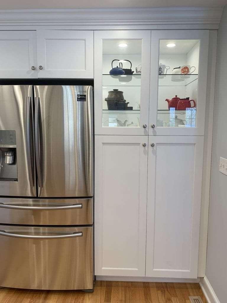Eudora Semi Custom White Full Access Full Overlay Kitchen Refridgerator