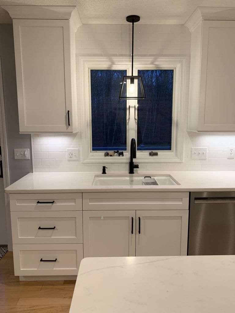 Eudora Semi Custom White Full Access Full Overlay Kitchen Sink