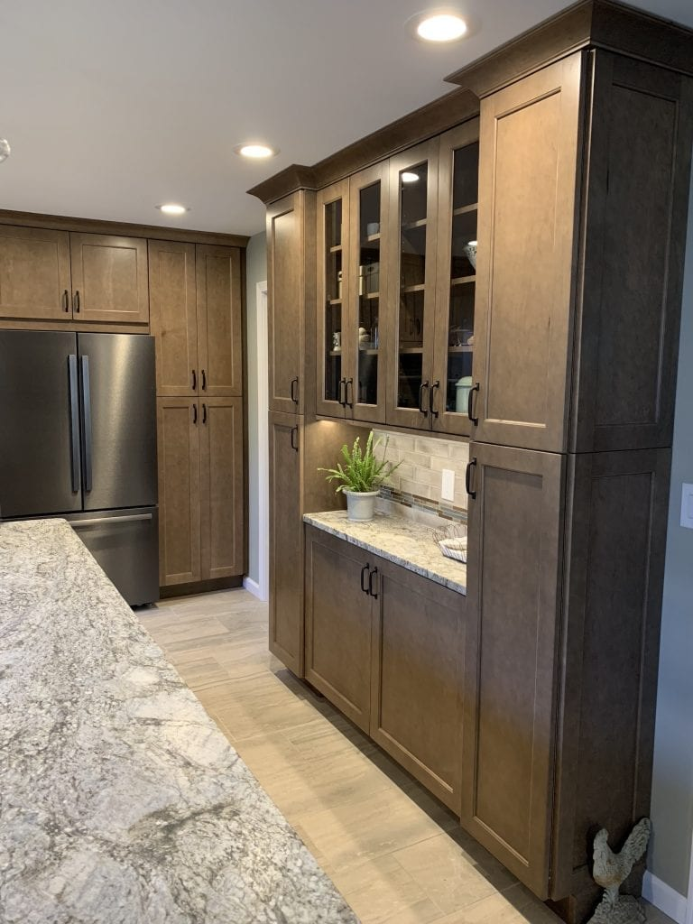 Dean Cabinetry Eudora Semi Custom Wood Stain Full Access Full Overlay Kitchen Buffet