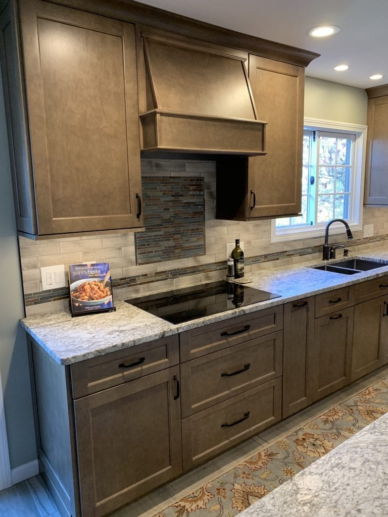 Dean Cabinetry Eudora Semi Custom Wood Stain Full Access Full Overlay Kitchen Hood