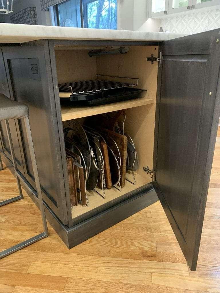 Dean Cabinetry John Dean Custom Cabinetry White Full Access Full Overlay Kitchen RevaShelf Tray Divider