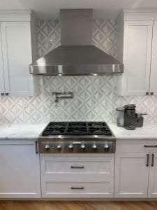 Dean Cabinetry John Dean Custom Cabinetry White Full Access Full Overlay Kitchen Thermador 6 Burner Gas Range