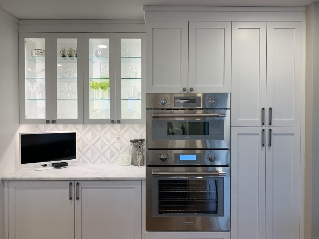 Dean Cabinetry John Dean Custom Cabinetry White Full Access Full Overlay Kitchen Thermador Double Oven