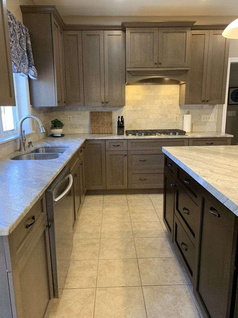 John Dean Custom Cabinetry Wood Stain Full Access Full Overlay Kitchen