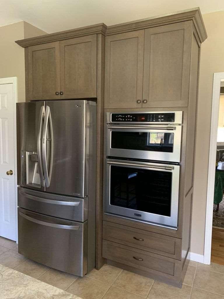 John Dean Custom Cabinetry Wood Stain Full Access Full Overlay Kitchen Appliances
