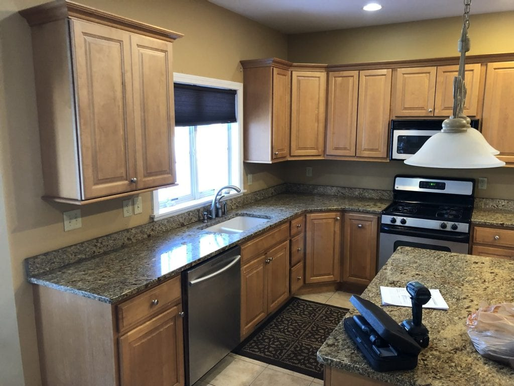 Dean Cabinetry John Dean Custom Cabinetry Wood Stain Full Access Full Overlay Kitchen Before 2