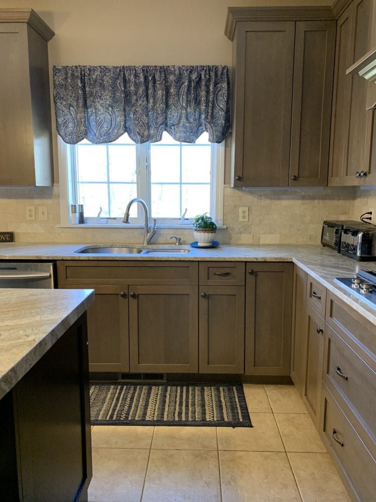 John Dean Custom Cabinetry Wood Stain Full Access Full Overlay Kitchen Sink