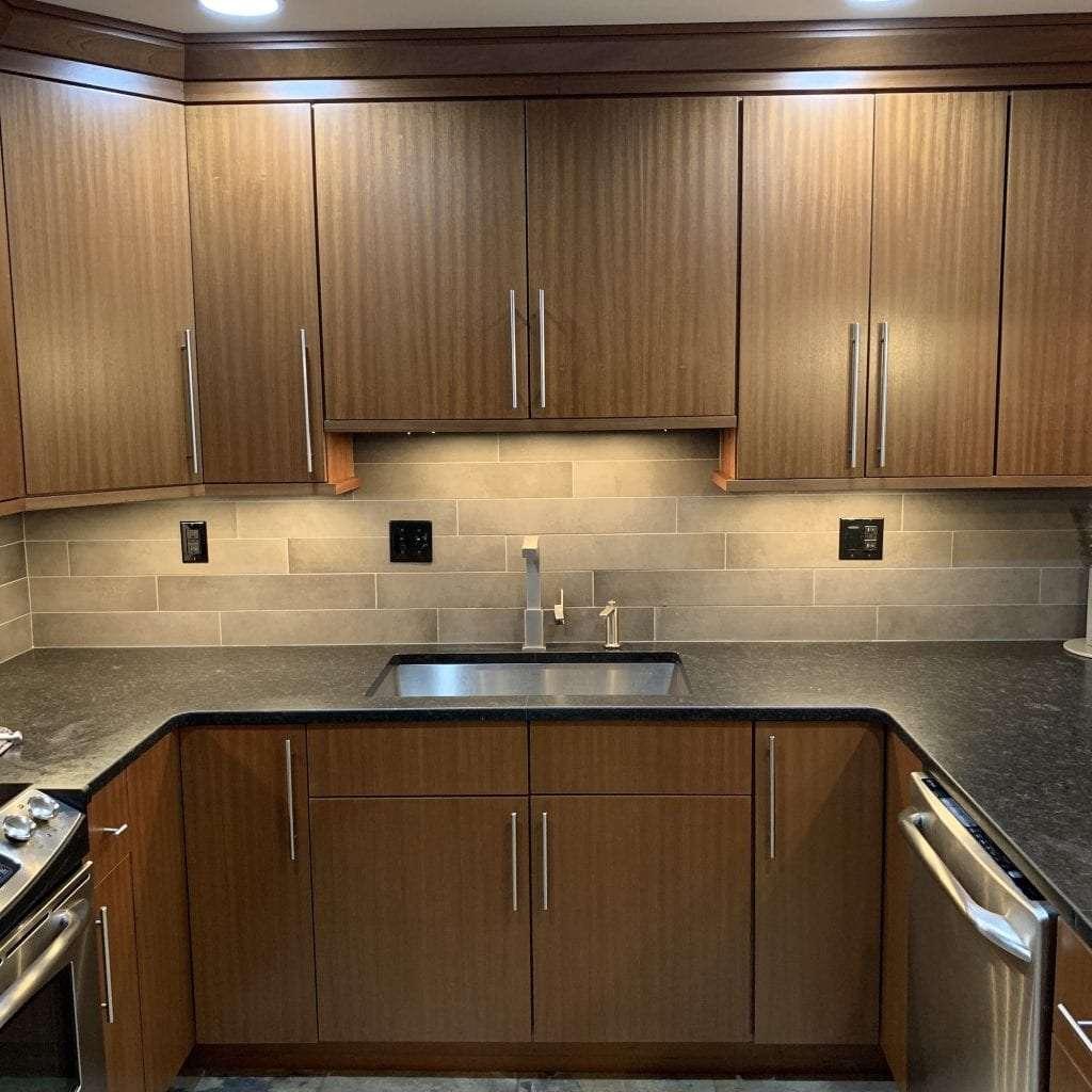 john dean custom cabinetry sapele clear full access full overlay kitchen