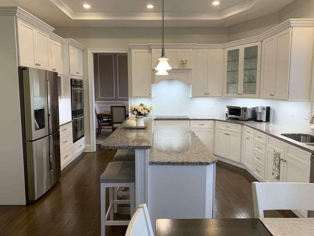 Dean Cabinetry Fabuwood Stock White Framed Full Overlay Kitchen