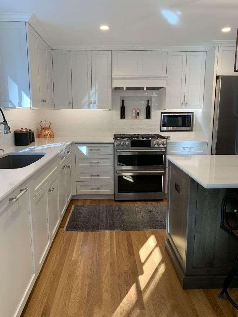 Dean Cabinetry John Dean Custom Cabinetry White Full Access Full Overlay Kitchen