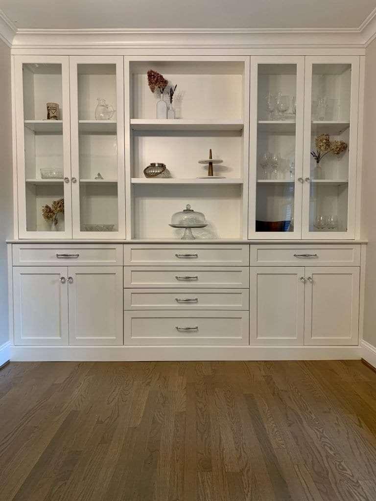 Dean Cabinetry John Dean Custom Cabinetry White Full Access Full Overlay Kitchen-Built-In