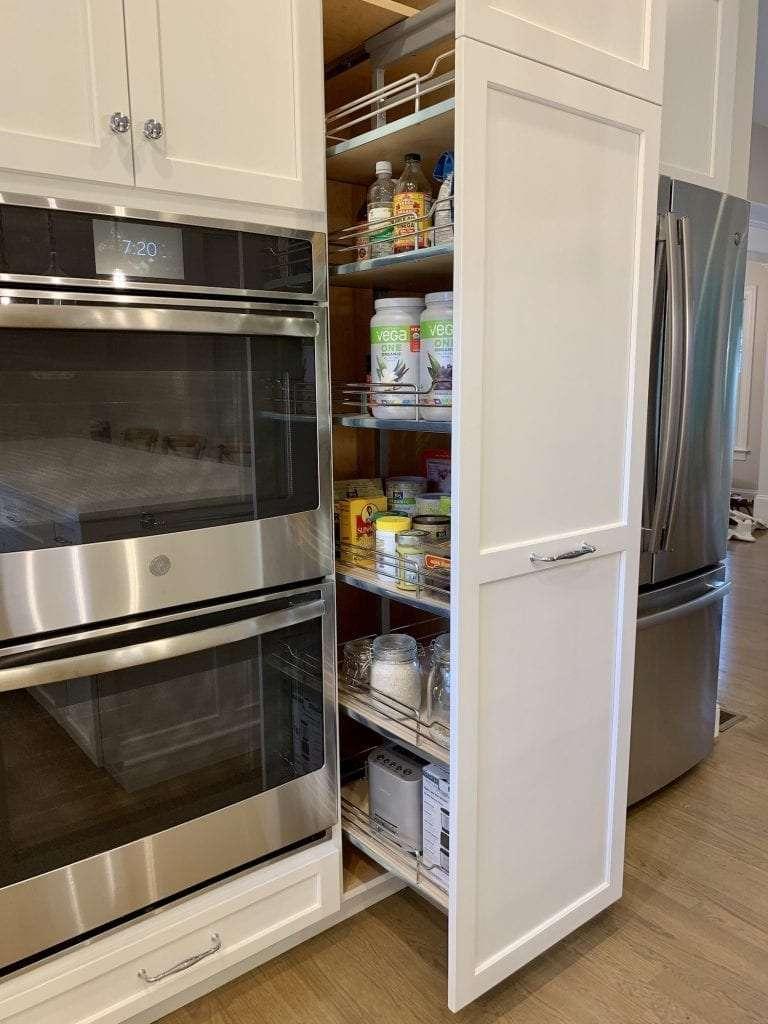 Dean Cabinetry John Dean Custom Cabinetry White Full Access Full Overlay Kitchen-Pantry