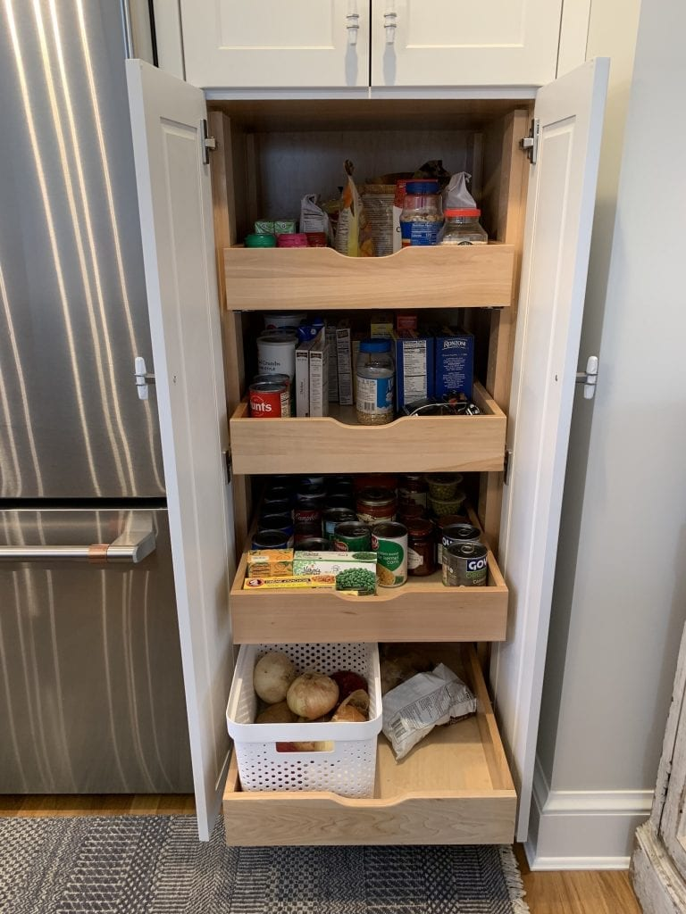 Dean Cabinetry John Dean Custom Cabinetry White Full Access Full Overlay Kitchen Pantry