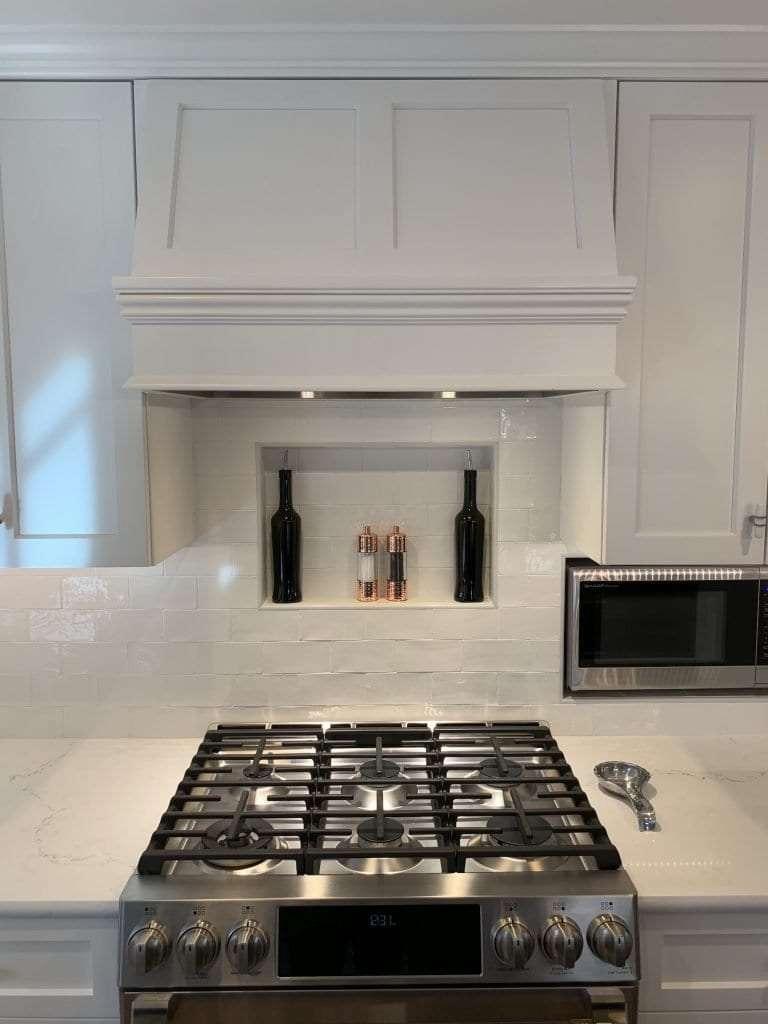 Dean Cabinetry John Dean Custom Cabinetry White Full Access Full Overlay Kitchen Range