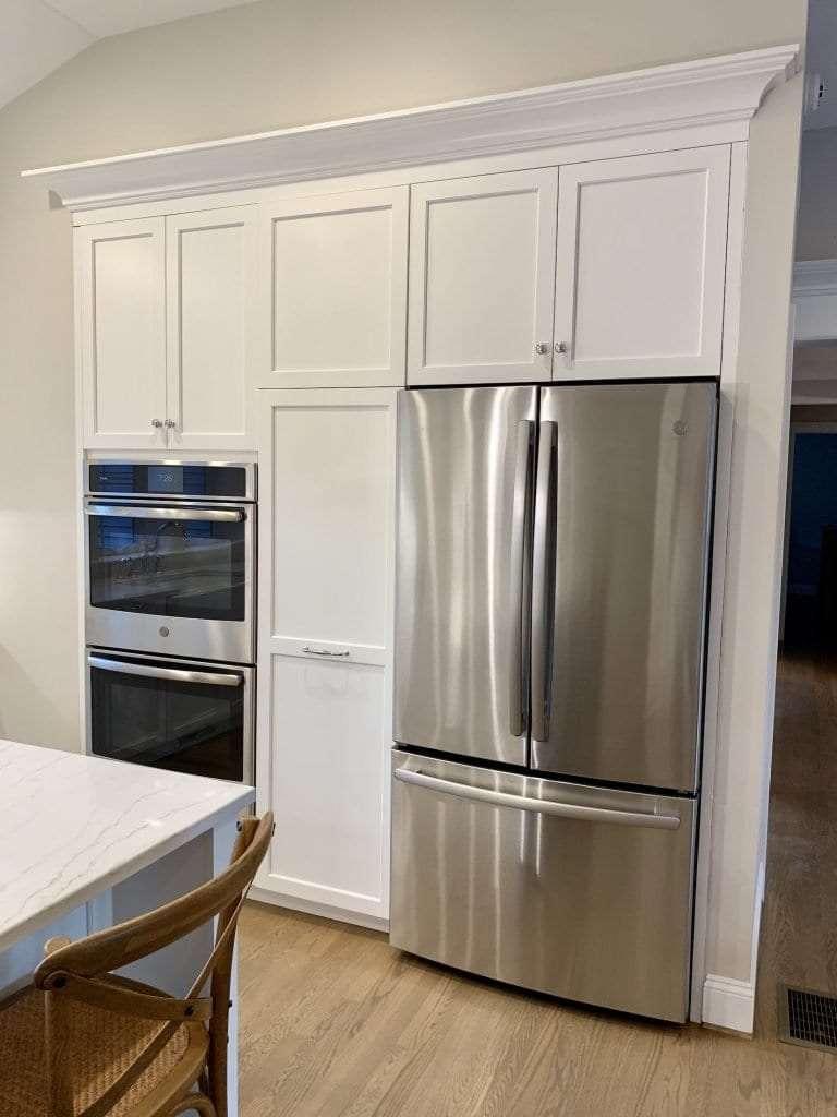 Dean Cabinetry John Dean Custom Cabinetry White Full Access Full Overlay Kitchen-Refridgerator