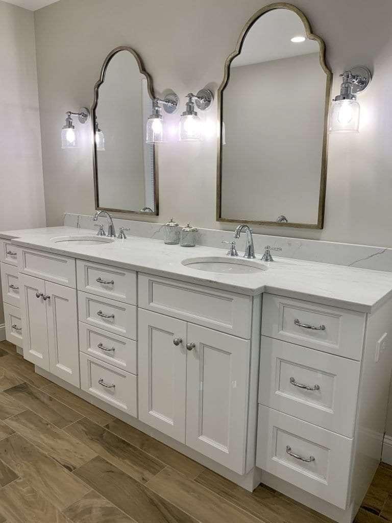 Dean Cabinetry John Dean Custom Cabinetry White Full Access Full Overlay Kitchen-Vanity