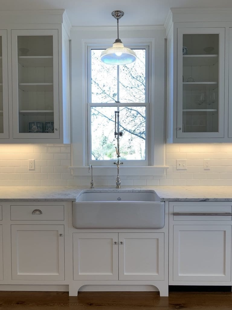 Dean Cabinetry John Dean Custom Cabinetry White Inset Kitchen Farm Sink