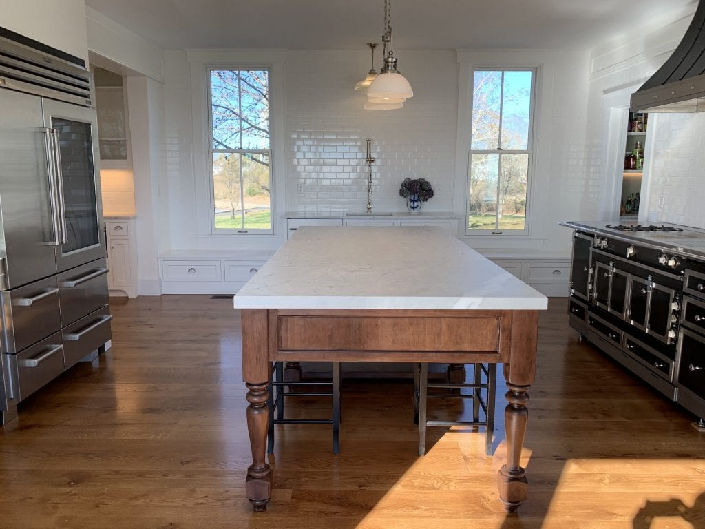 Dean Cabinetry John Dean Custom Cabinetry White Inset Kitchen Island