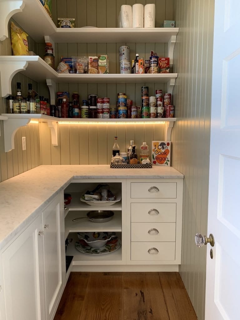 Dean Cabinetry John Dean Custom Cabinetry White Inset Kitchen Pantry