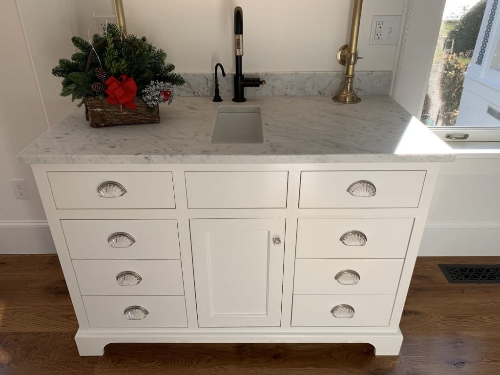 Dean Cabinetry John Dean Custom Cabinetry White Inset Kitchen Wet Bar Scaled