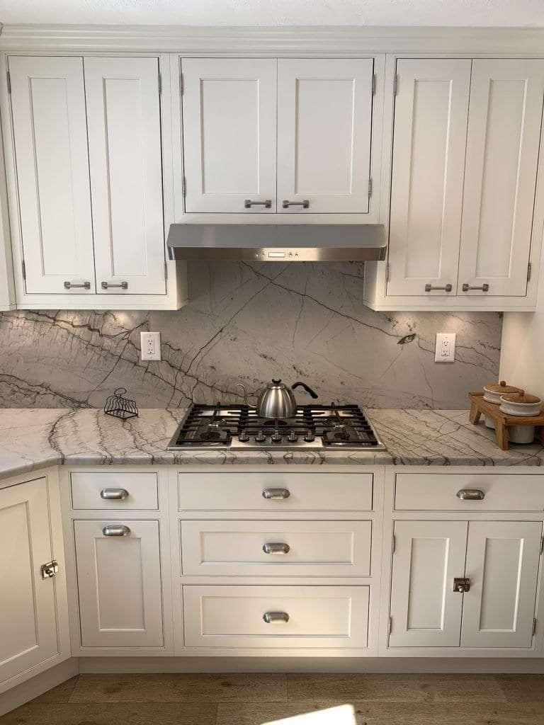 Dean Cabinetry Showplace Semi Custom Off White Inset Kitchen Range