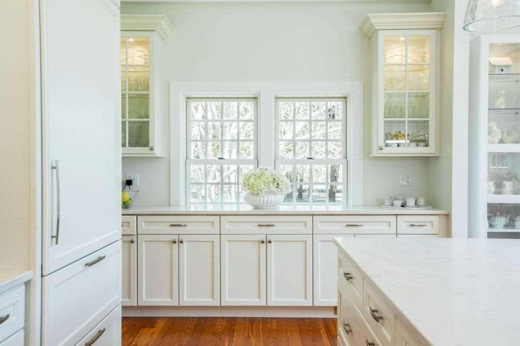 Dean Cabinetry Eudora Semi Custom White Framed Full Overlay Kitchen Windows