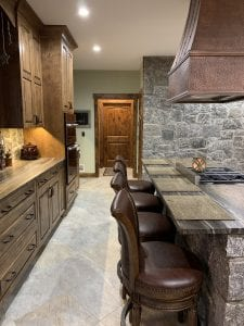 Dean Cabinetry John Dean Custom Cabinetry Wood Stain Full Access Full Overlay Kitchen Door