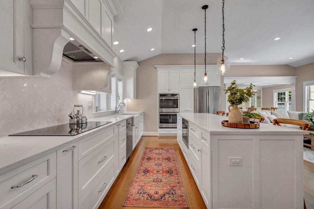 Coastal Ranch Home Renovation Features John Dean Custom Cabinetry.