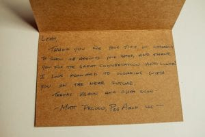 thank you note dean cabinetry